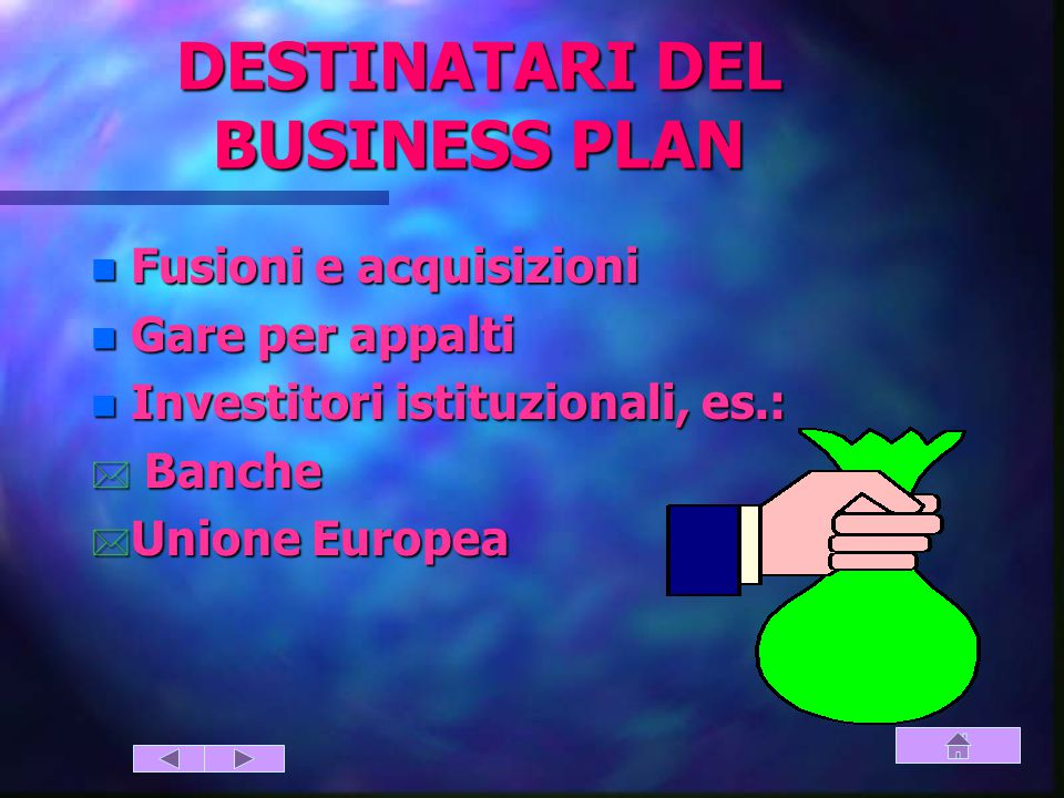 DESTINATARI DEL BUSINESS PLAN