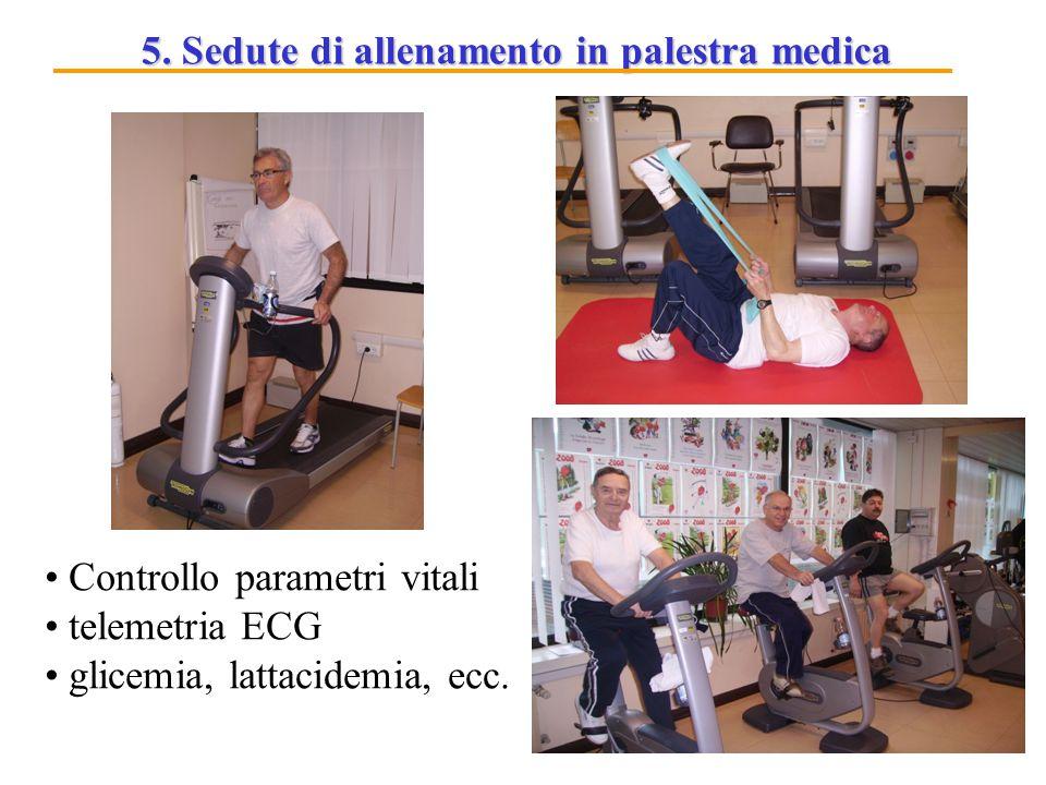 5. Sedute di allenamento in palestra medica