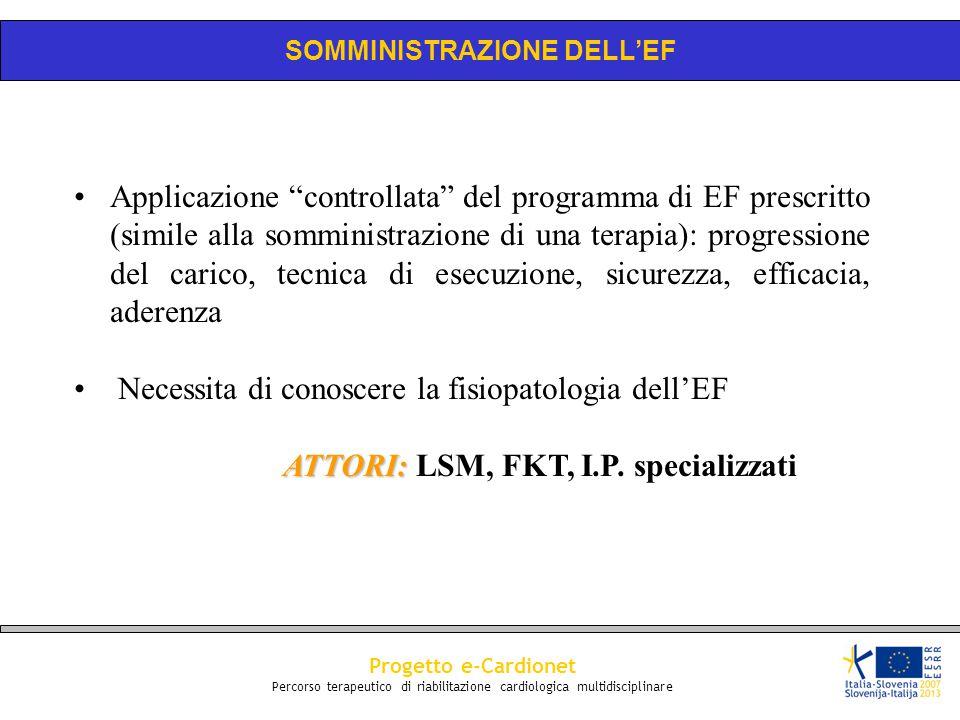 SOMMINISTRAZIONE DELL'EF ATTORI: LSM, FKT, I.P. specializzati