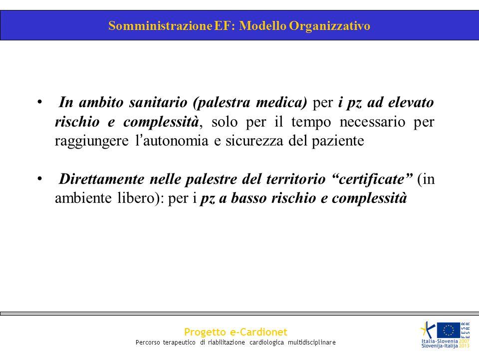 Somministrazione EF: Modello Organizzativo