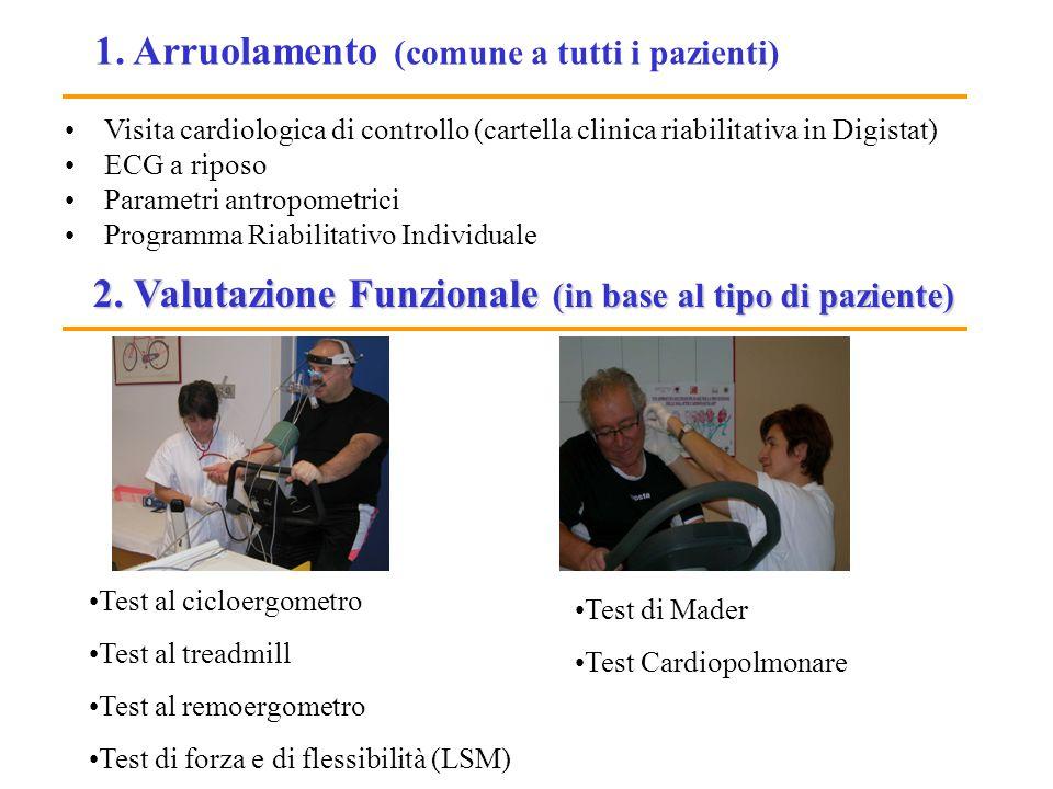 1. Arruolamento (comune a tutti i pazienti)