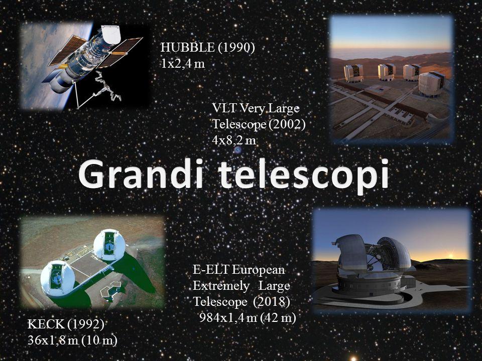 Grandi telescopi HUBBLE (1990) 1x2,4 m