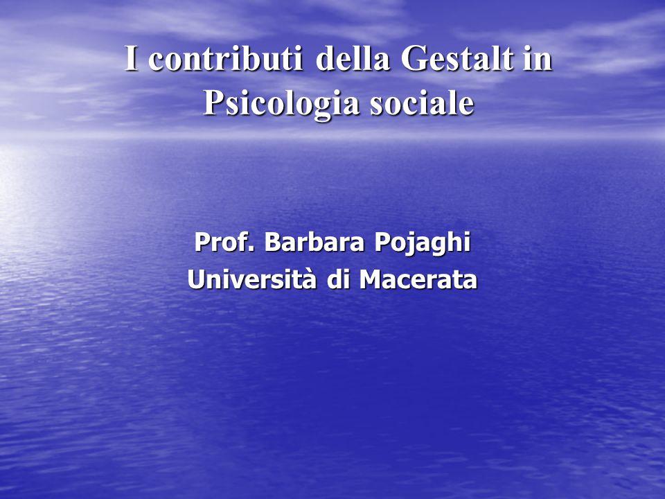 I contributi della Gestalt in Psicologia sociale
