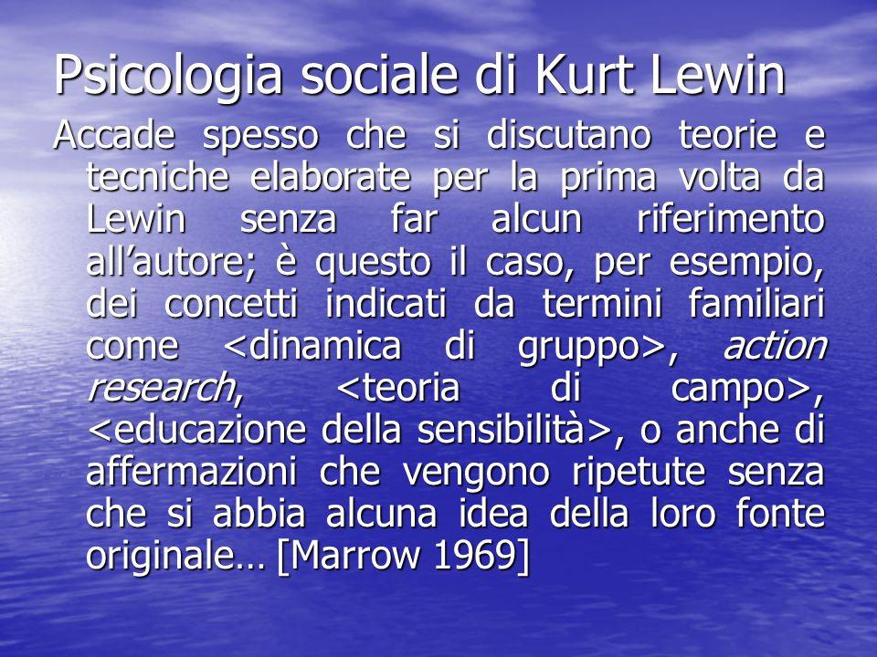 Psicologia sociale di Kurt Lewin