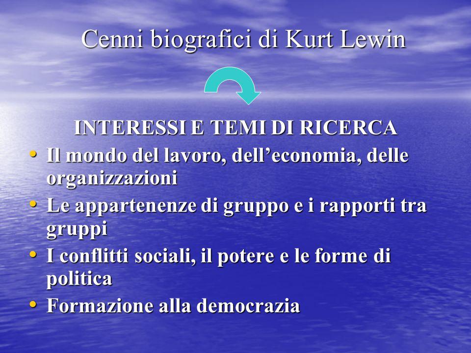 Cenni biografici di Kurt Lewin