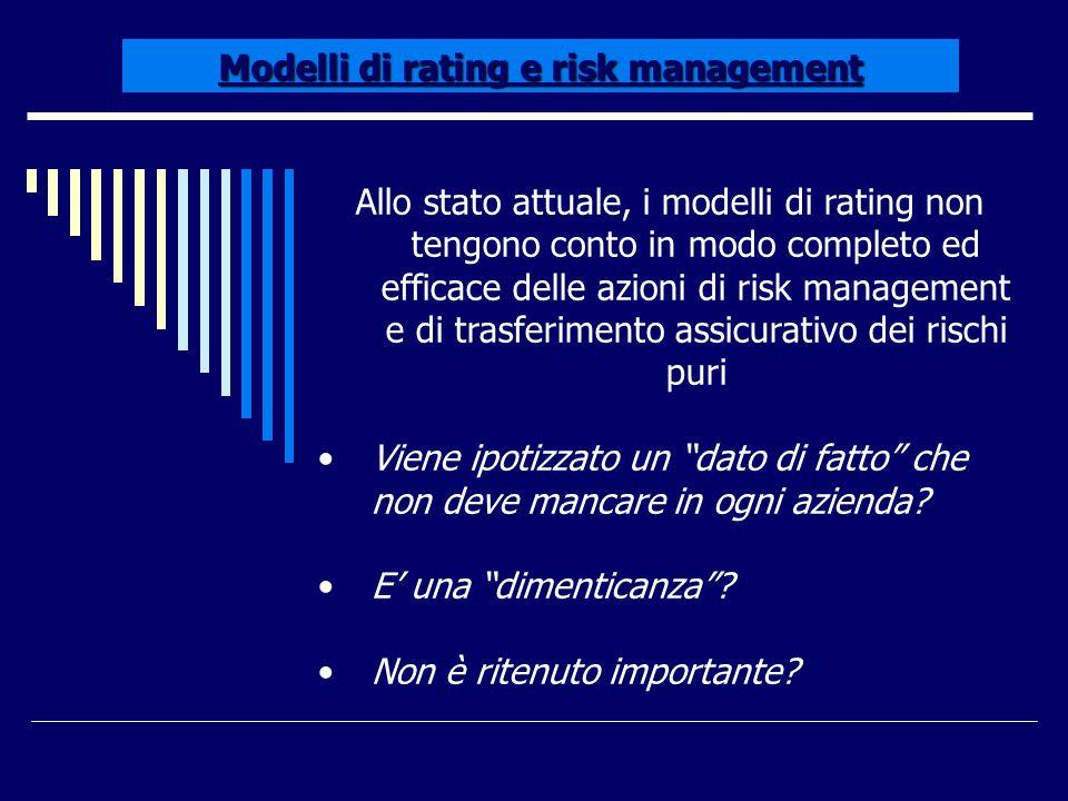 Modelli di rating e risk management