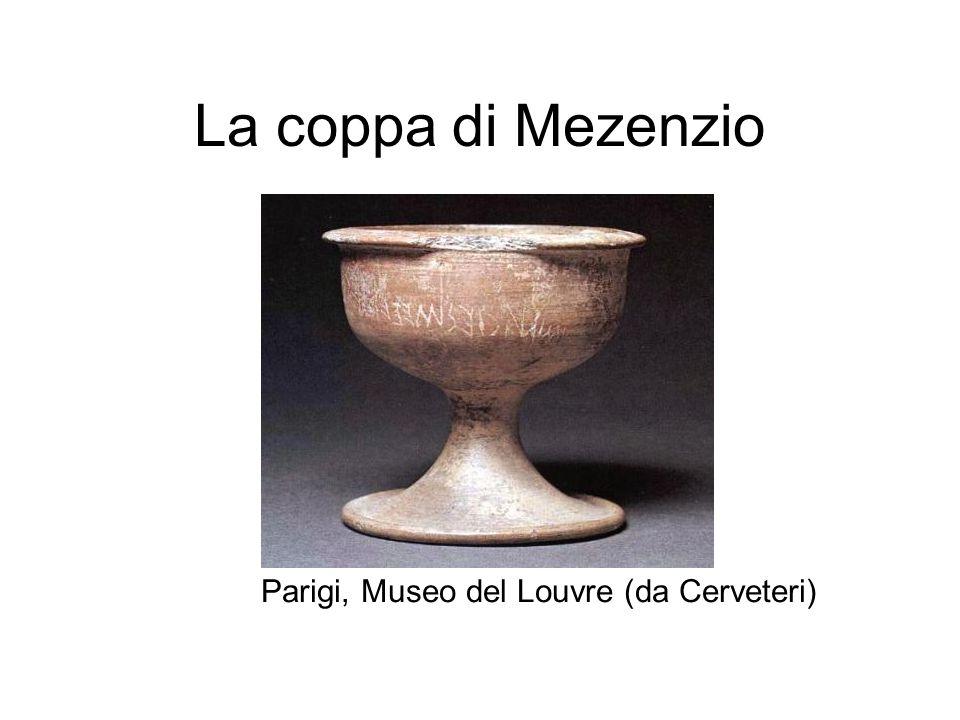La coppa di Mezenzio Parigi, Museo del Louvre (da Cerveteri)