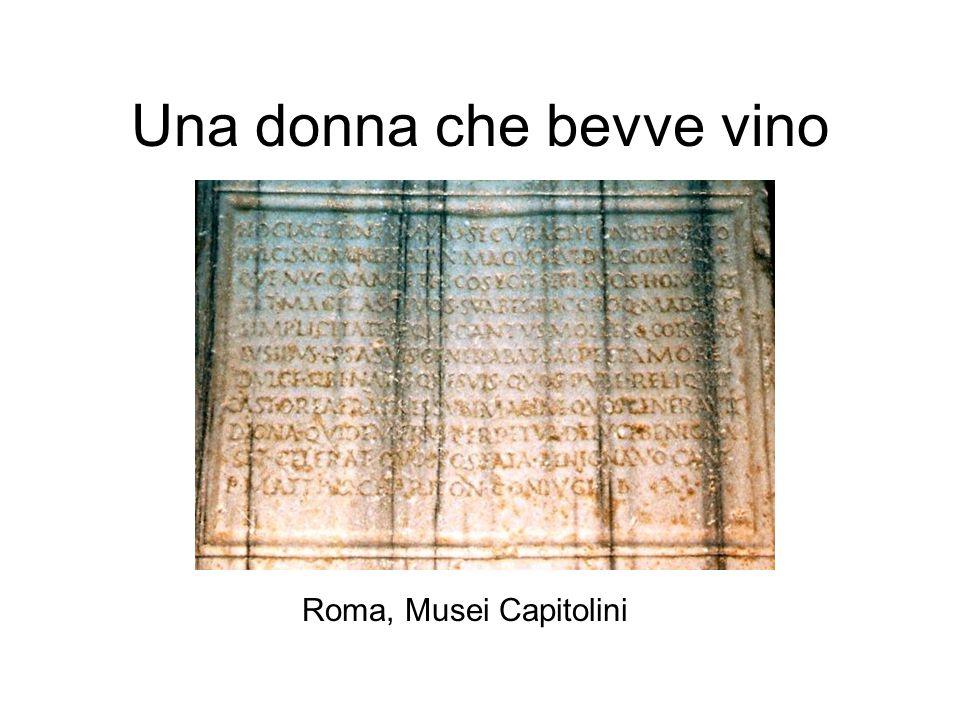 Una donna che bevve vino