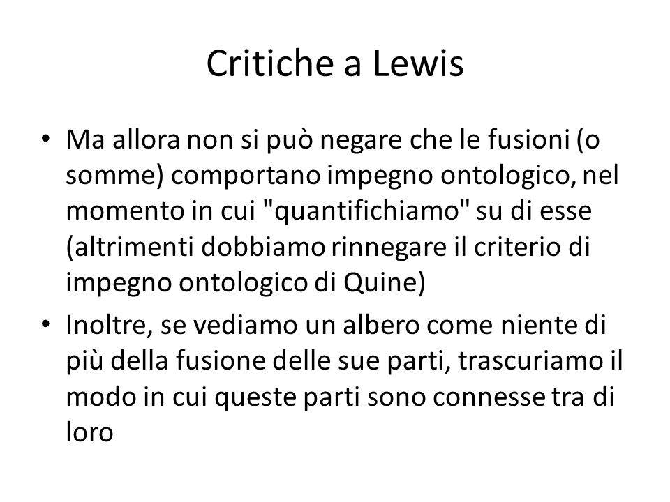 Critiche a Lewis