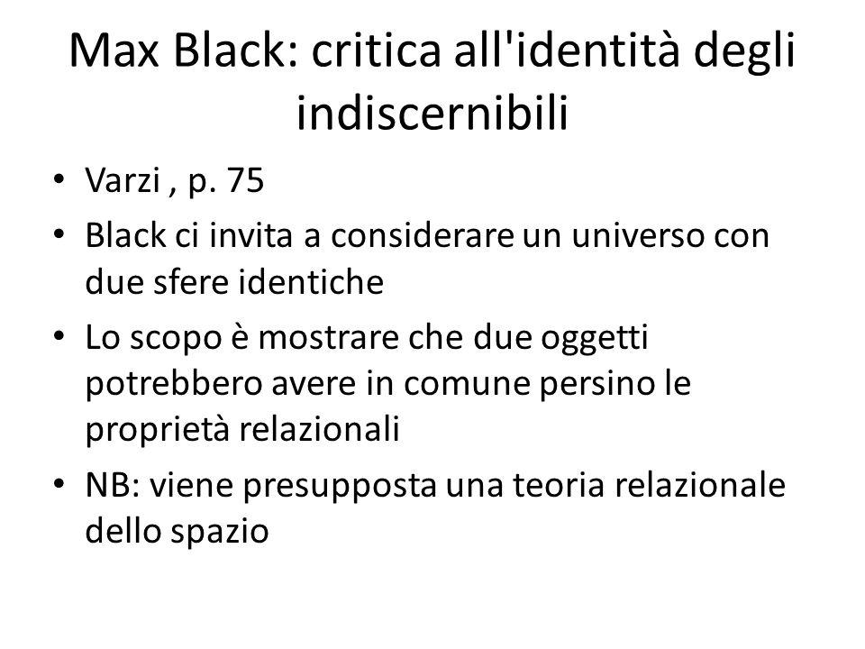 Max Black: critica all identità degli indiscernibili
