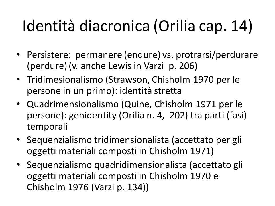 Identità diacronica (Orilia cap. 14)