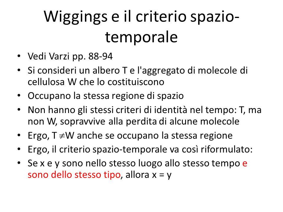 Wiggings e il criterio spazio-temporale