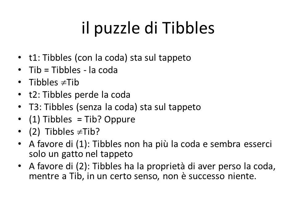 il puzzle di Tibbles t1: Tibbles (con la coda) sta sul tappeto