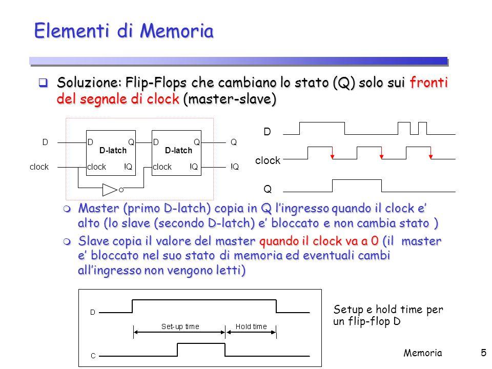 Assunzioni Metodologia edge-triggered Comportamento tipico