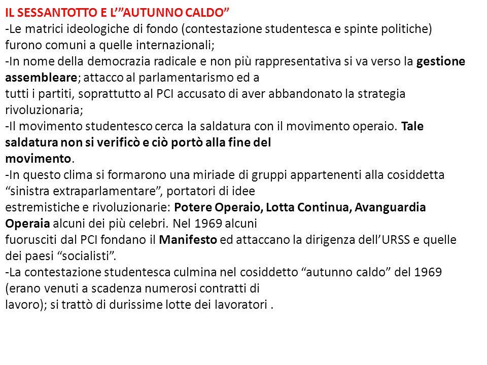 IL SESSANTOTTO E L' AUTUNNO CALDO