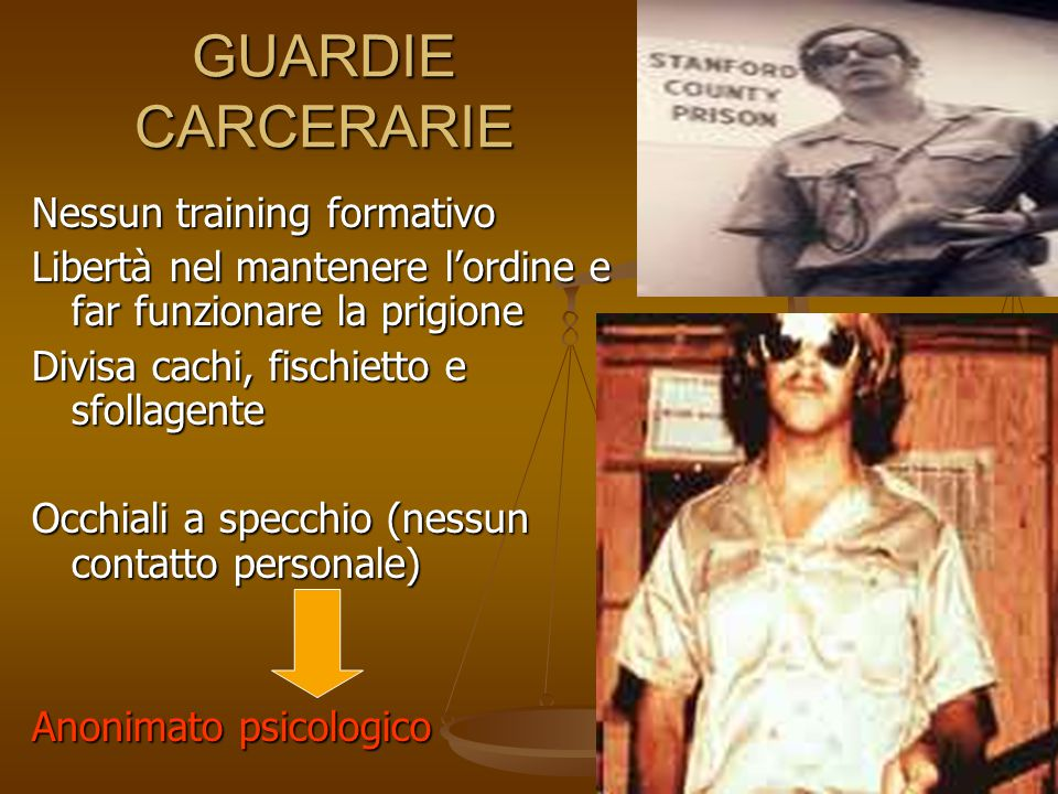 GUARDIE CARCERARIE Nessun training formativo