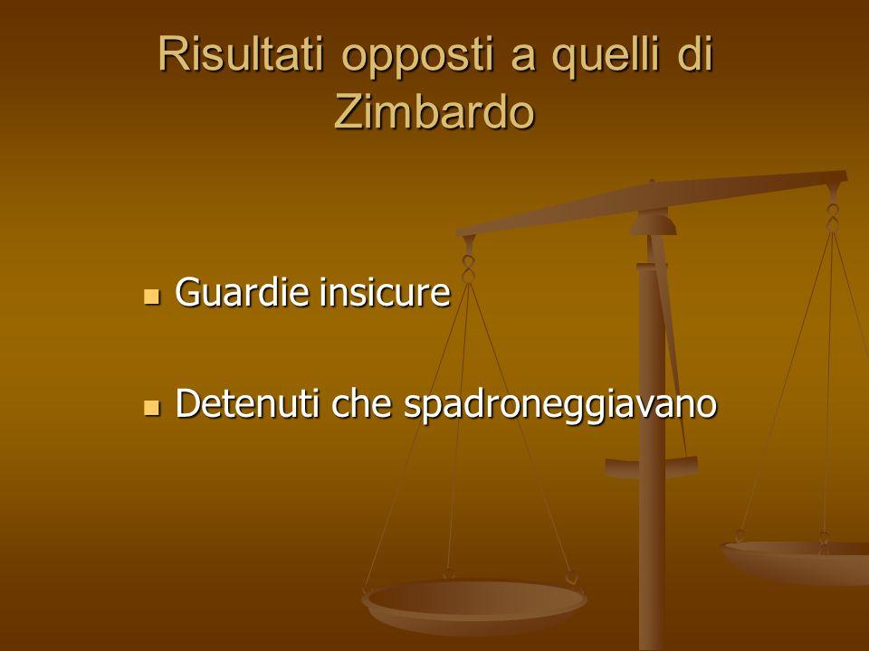Risultati opposti a quelli di Zimbardo
