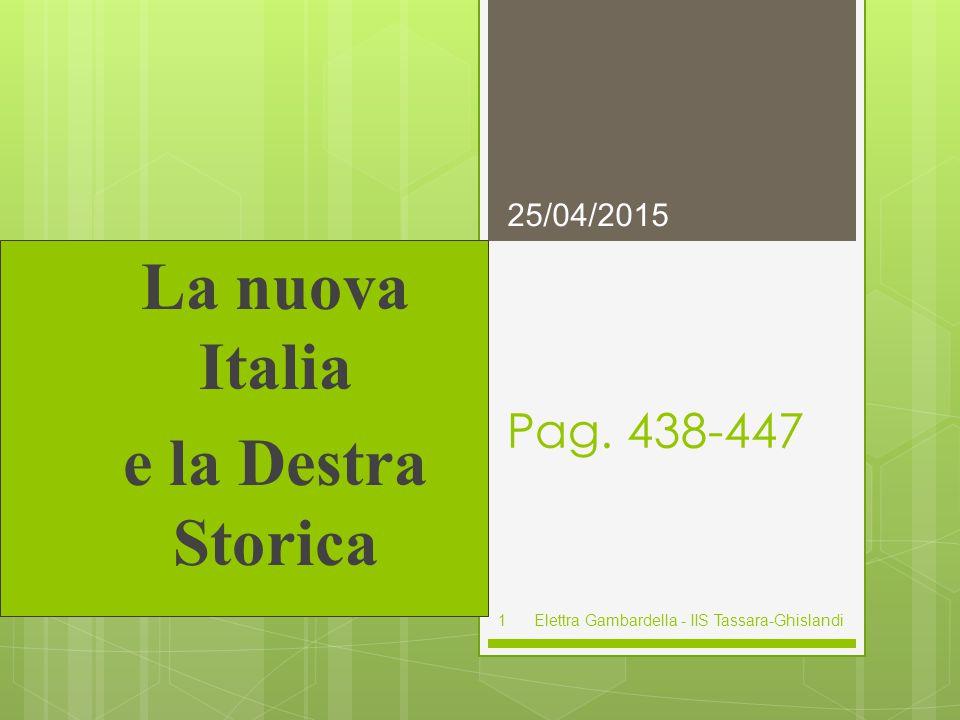 La nuova Italia e la Destra Storica