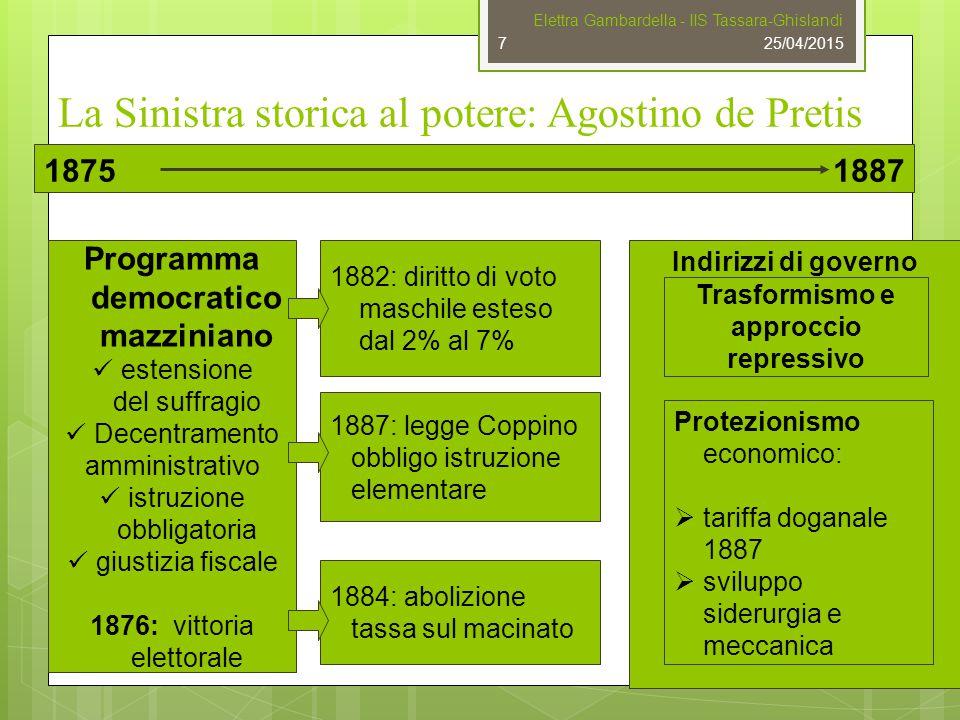 La Sinistra storica al potere: Agostino de Pretis