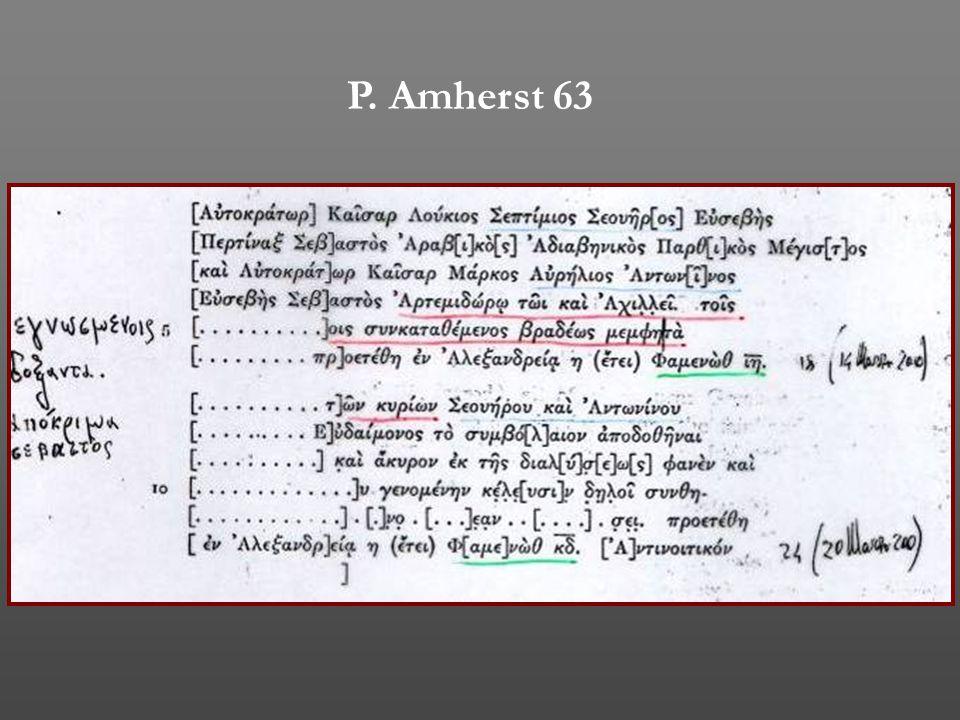 P. Amherst 63