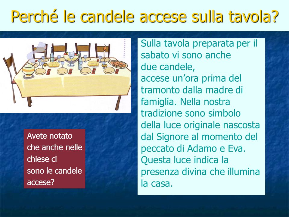 Perché le candele accese sulla tavola
