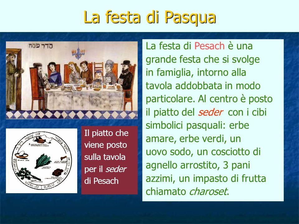 La festa di Pasqua La festa di Pesach è una grande festa che si svolge