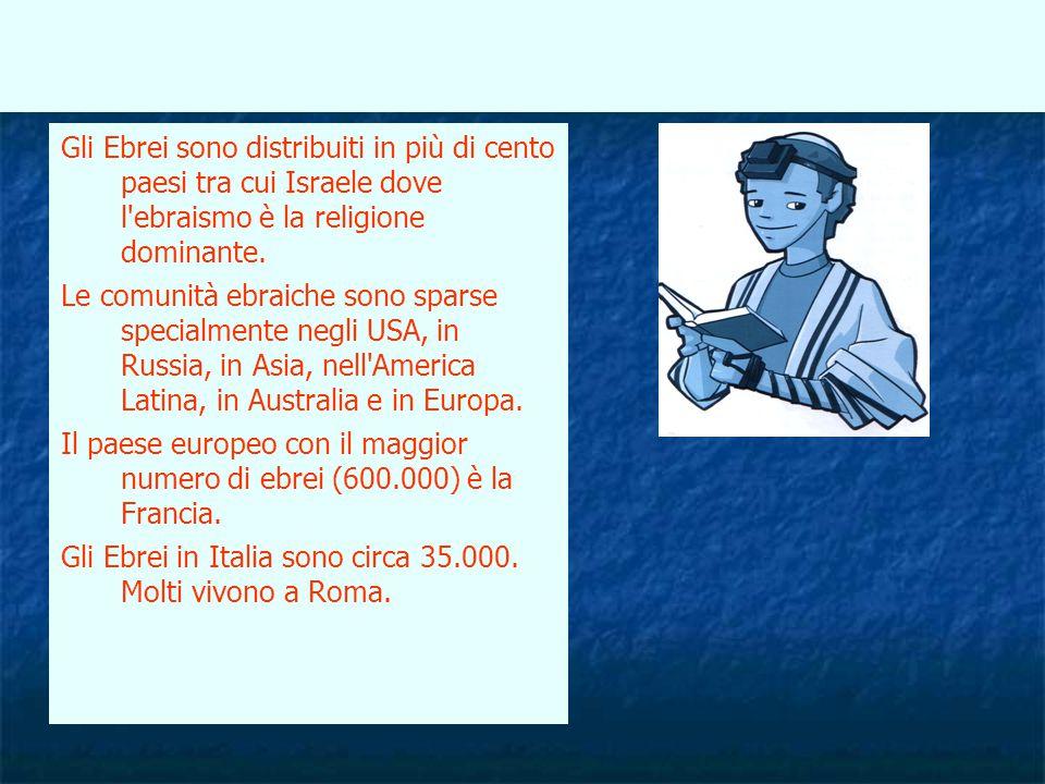 Gli Ebrei in Italia sono circa 35.000. Molti vivono a Roma.