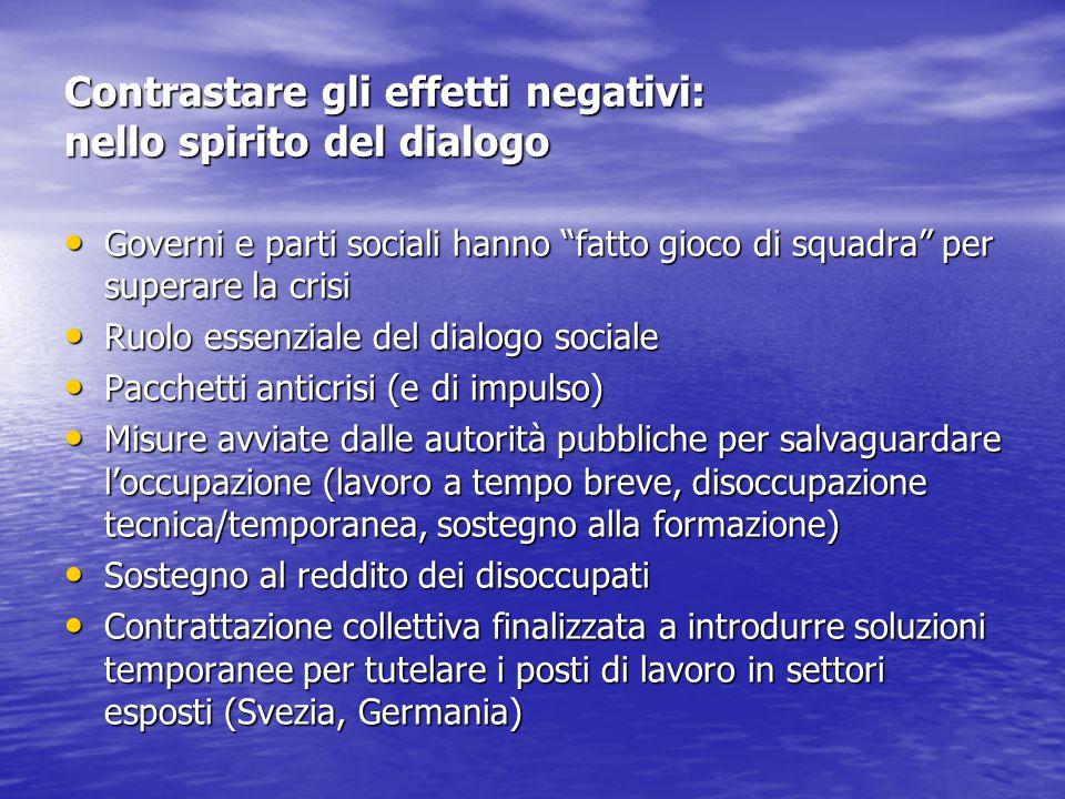 Contrastare gli effetti negativi: nello spirito del dialogo