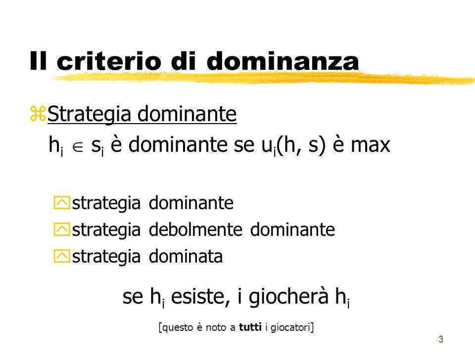 Il criterio di dominanza