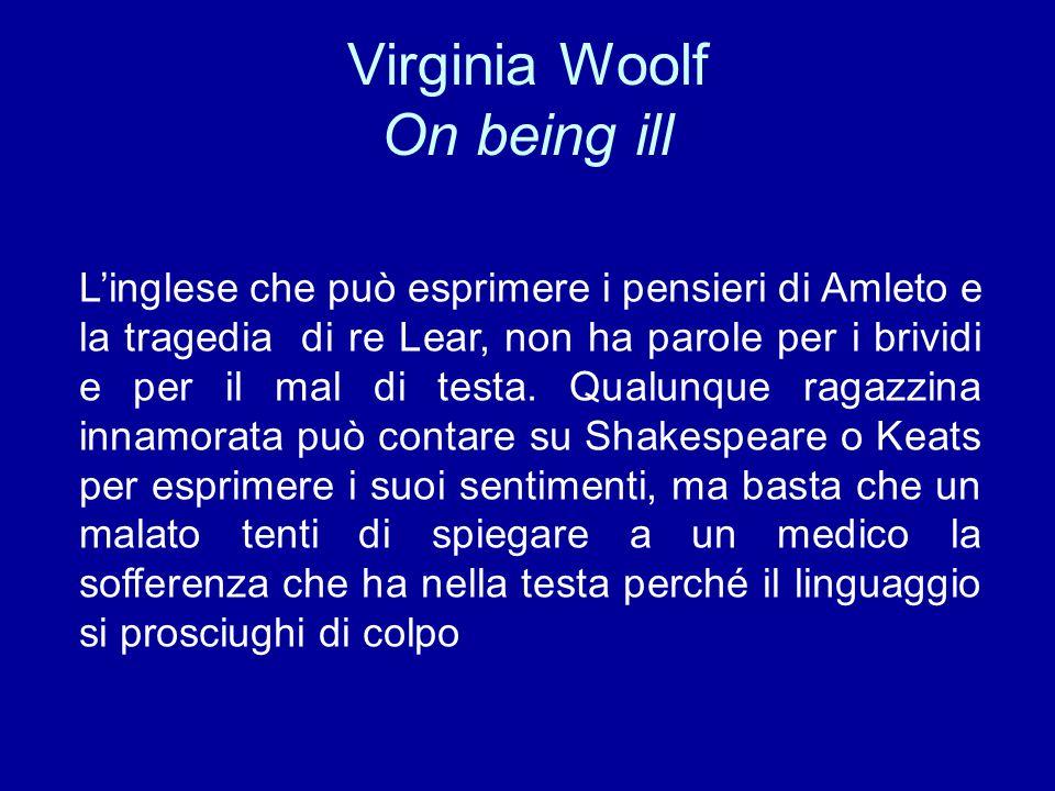 Virginia Woolf On being ill
