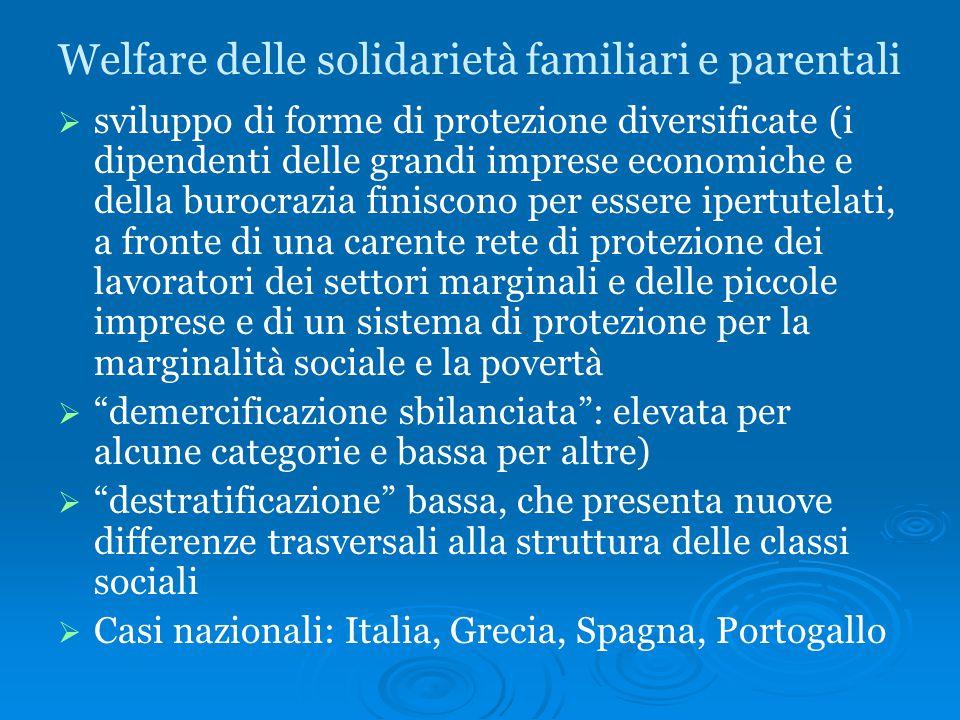 Welfare delle solidarietà familiari e parentali