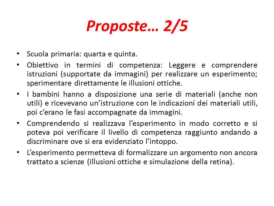 Proposte… 2/5 Scuola primaria: quarta e quinta.