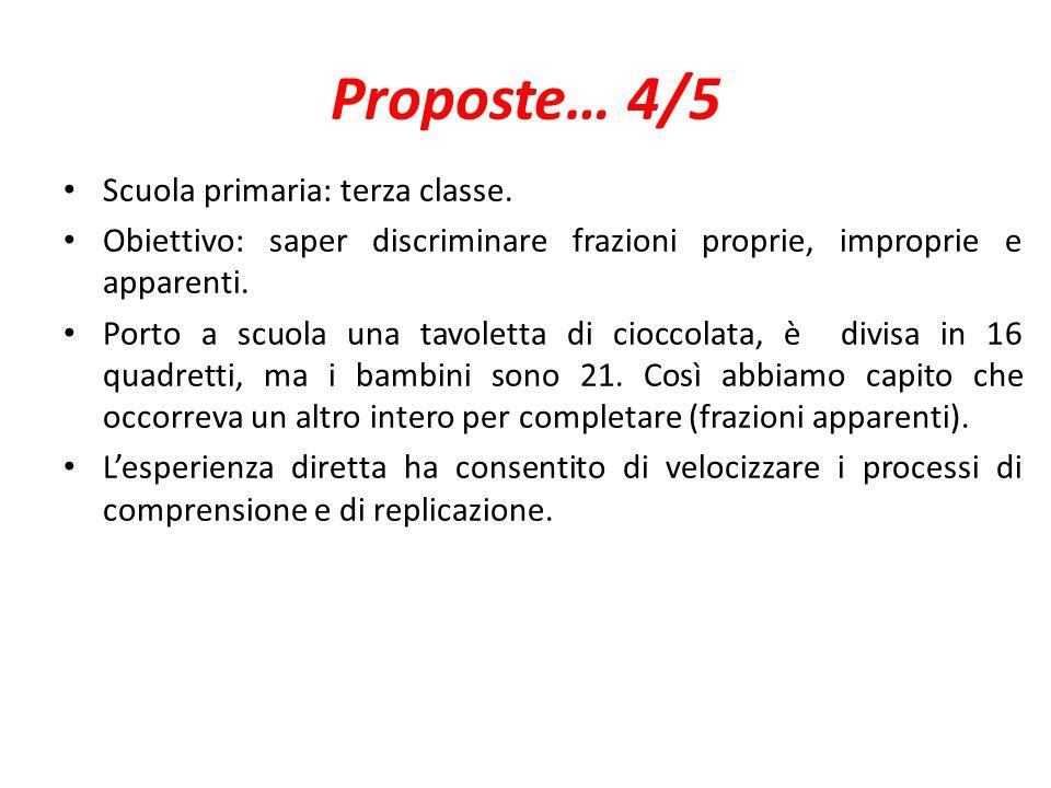 Proposte… 4/5 Scuola primaria: terza classe.