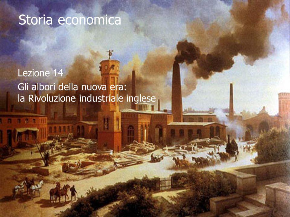 Storia economica Lezione 14