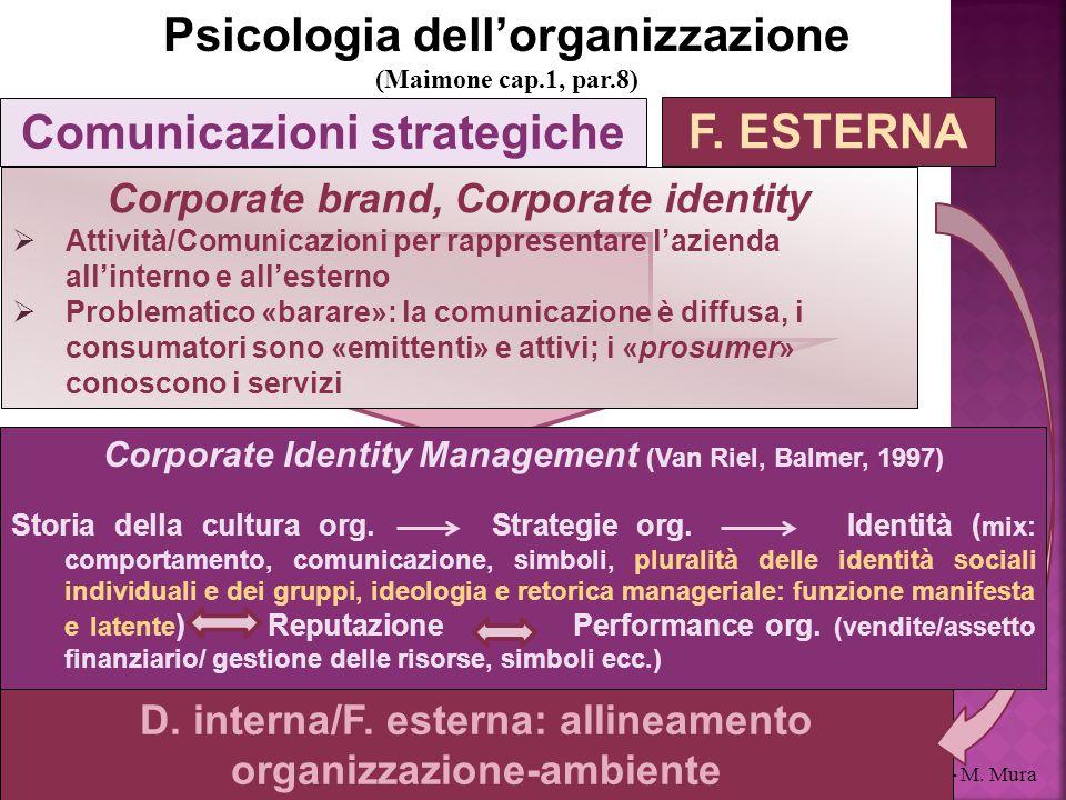 Psicologia dell'organizzazione Comunicazioni strategiche F. ESTERNA