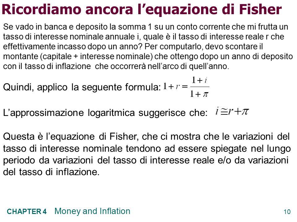 Ricordiamo ancora l'equazione di Fisher