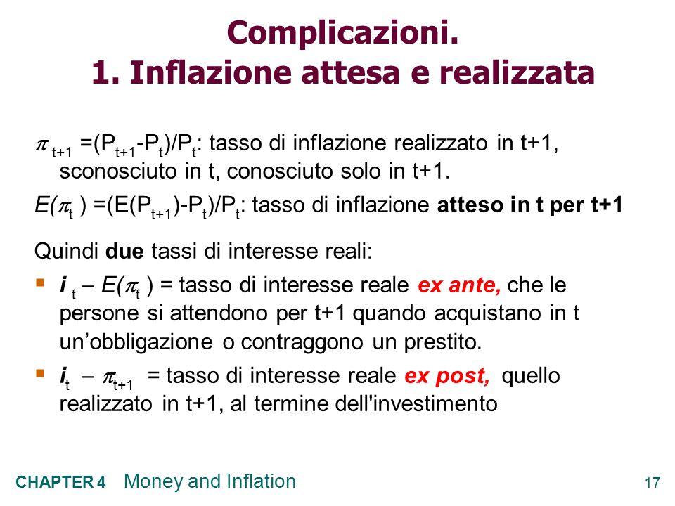 Complicazioni. 1. Inflazione attesa e realizzata