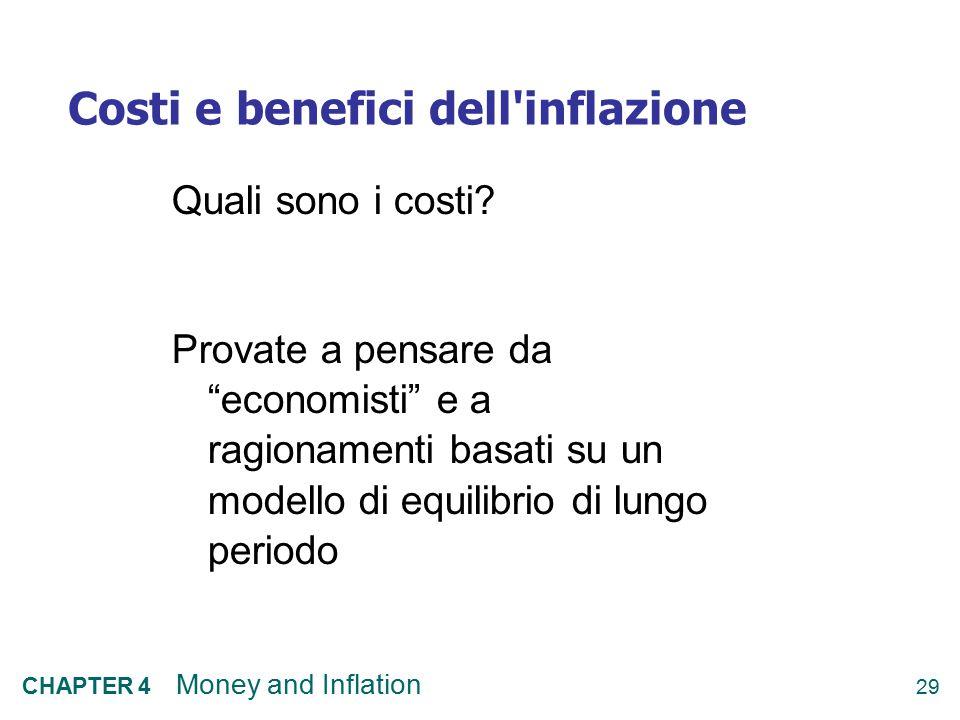 Costi e benefici dell inflazione