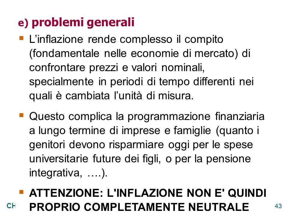 e) problemi generali