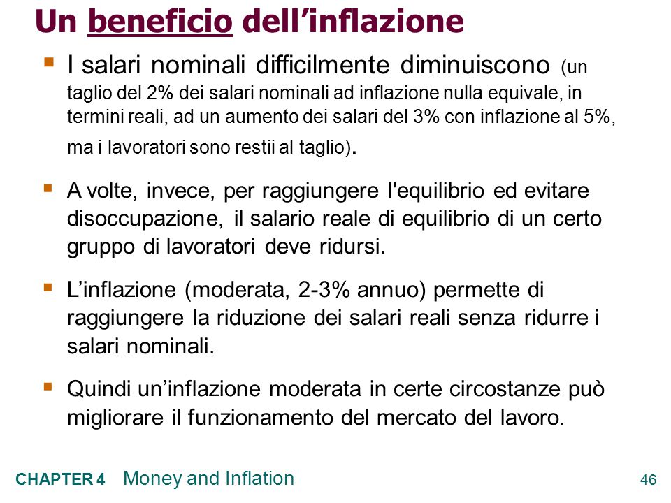 Un beneficio dell'inflazione