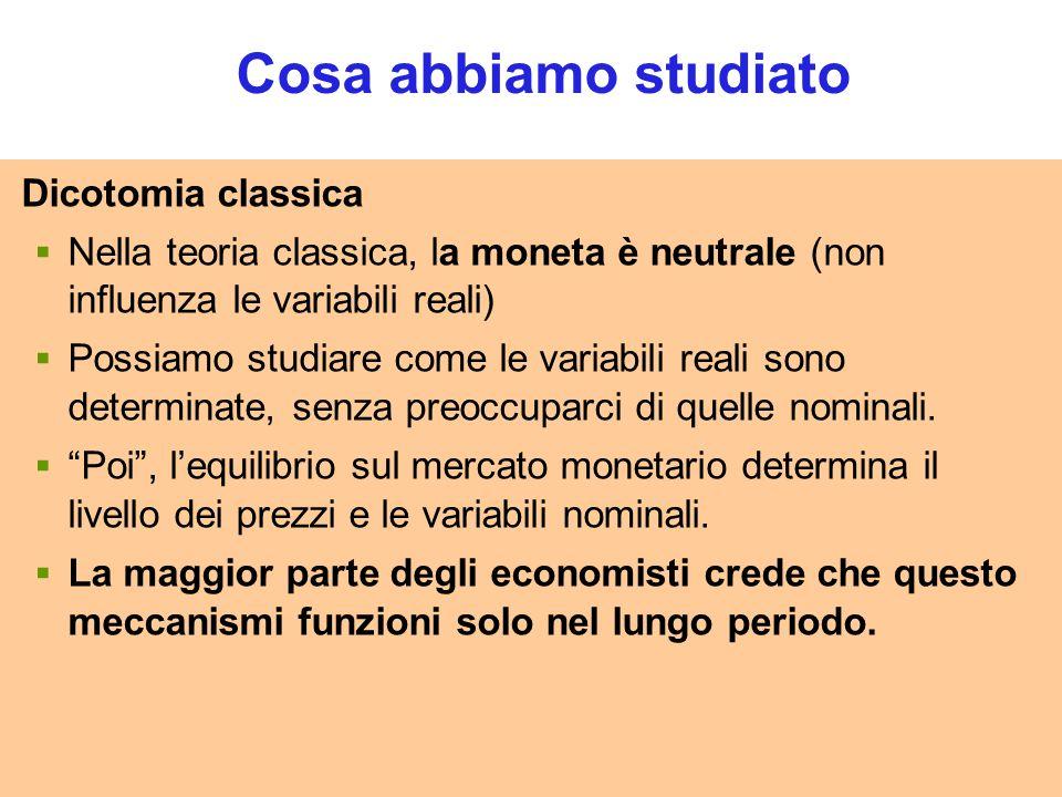 Cosa abbiamo studiato Dicotomia classica