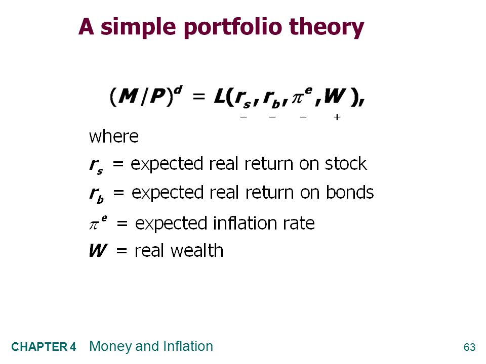 A simple portfolio theory