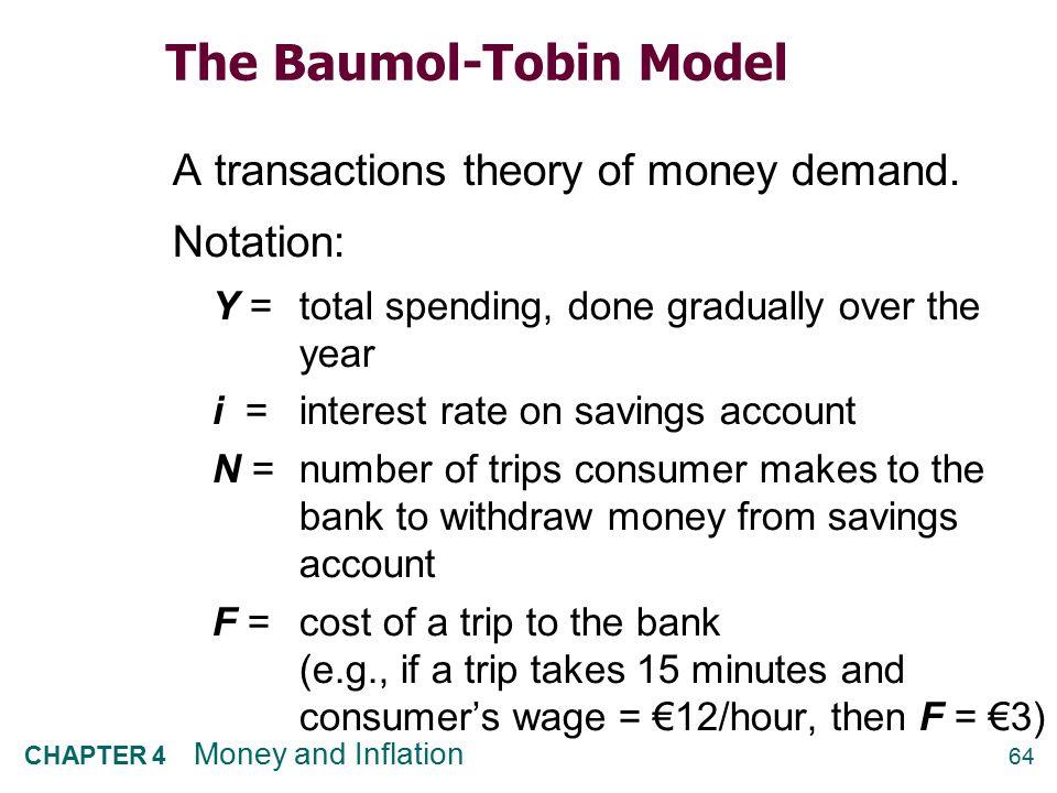 The Baumol-Tobin Model