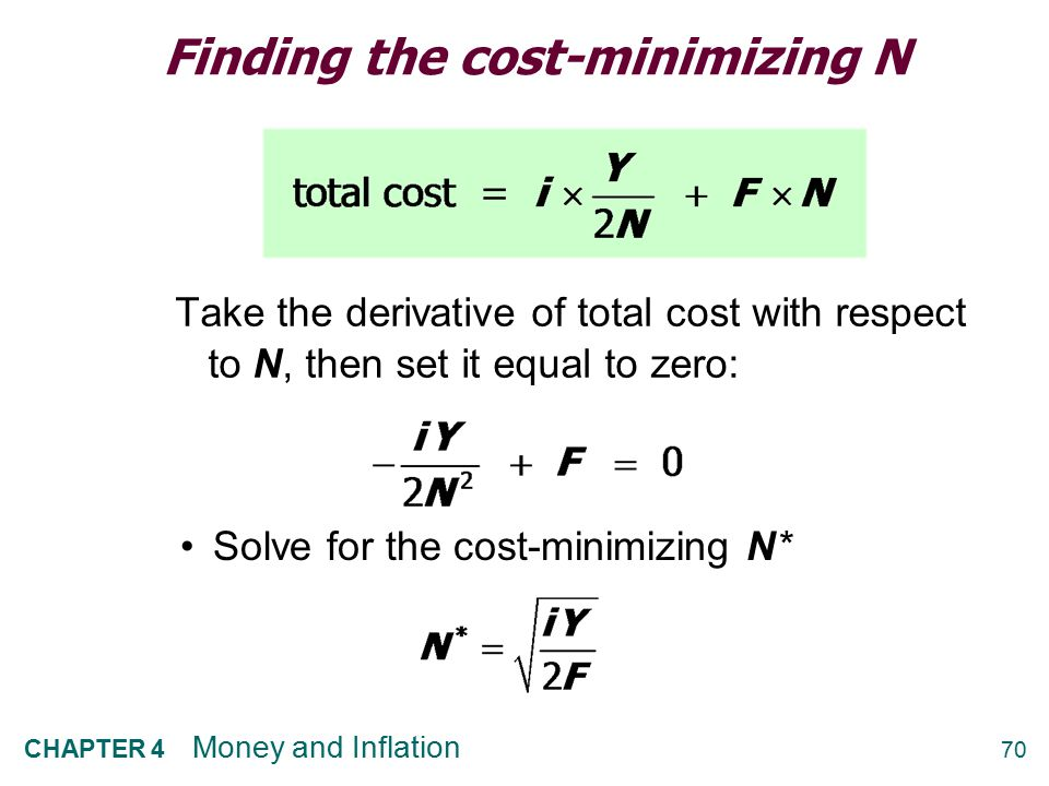 Finding the cost-minimizing N