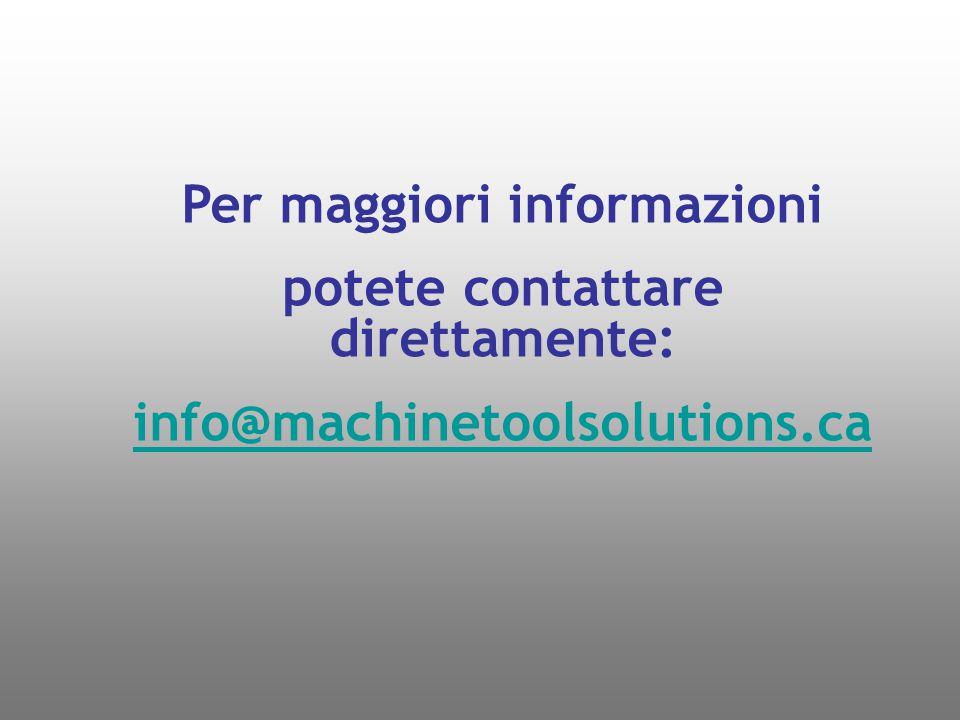 Per maggiori informazioni potete contattare direttamente:
