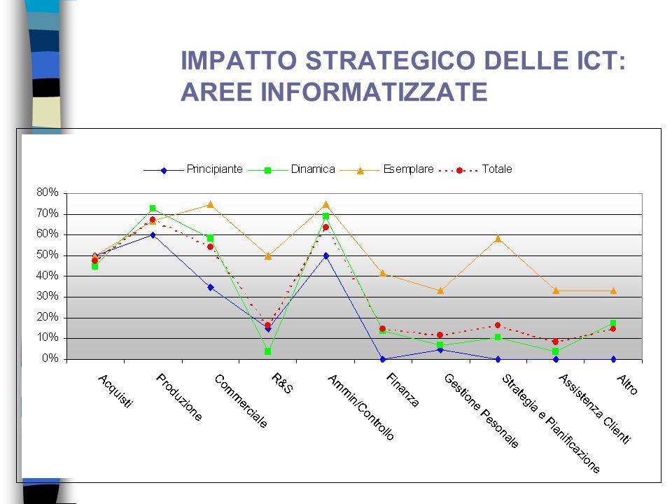 IMPATTO STRATEGICO DELLE ICT: AREE INFORMATIZZATE