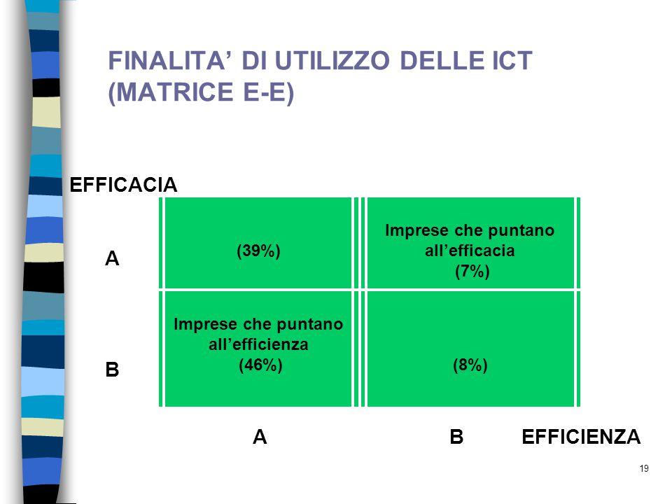 FINALITA' DI UTILIZZO DELLE ICT (MATRICE E-E)
