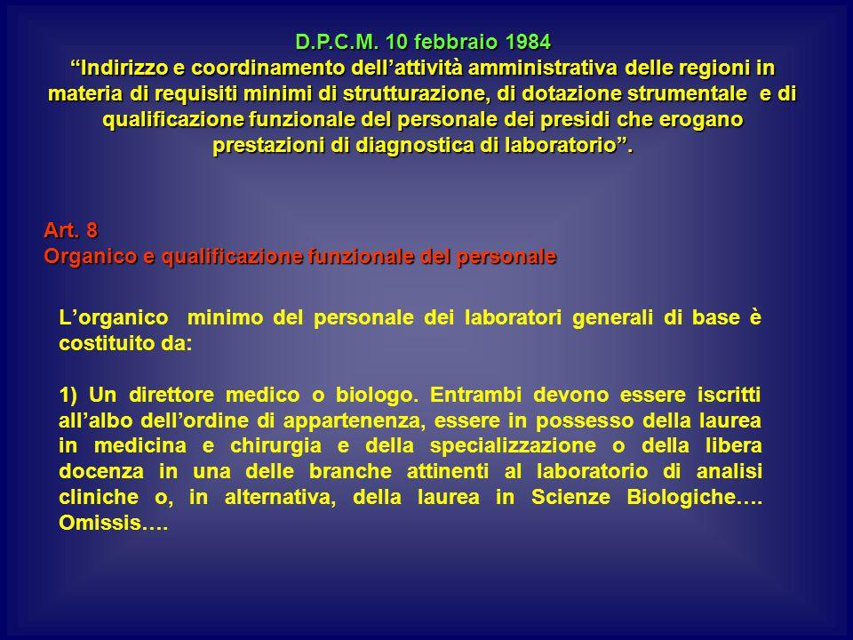 D.P.C.M. 10 febbraio 1984