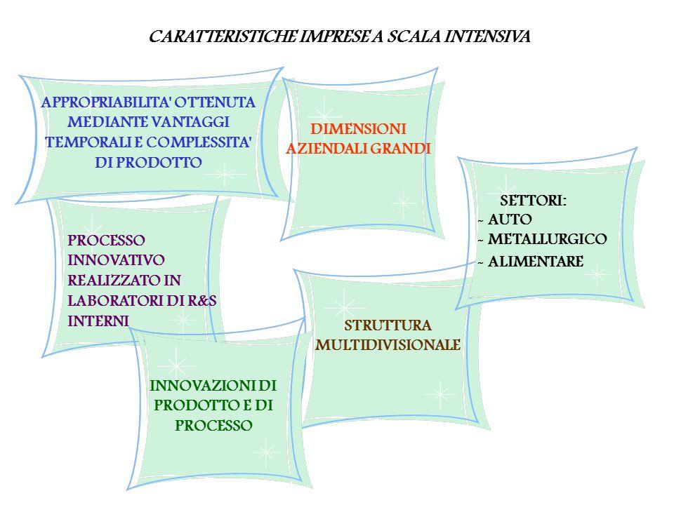 CARATTERISTICHE IMPRESE A SCALA INTENSIVA