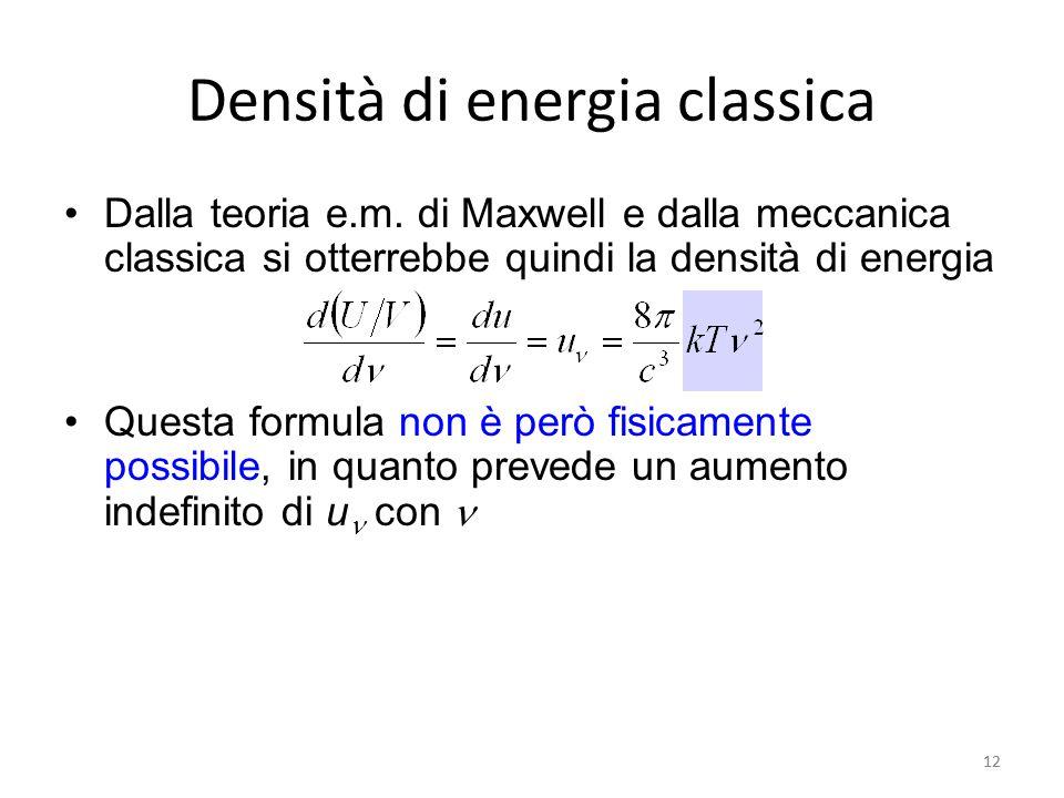 Densità di energia classica